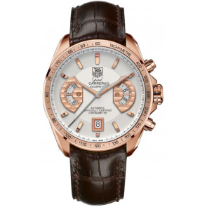 Cinturino per orologio Tag Heuer CAV514B / BX0849 / BX0870 XL Pelle di coccodrillo Marrone 22mm