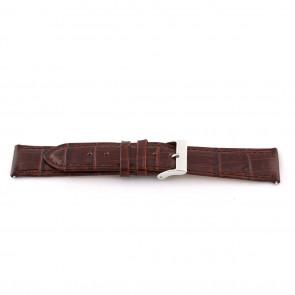 Cinturino dell'orologio D341 Pelle Marrone 14mm + cuciture marrone