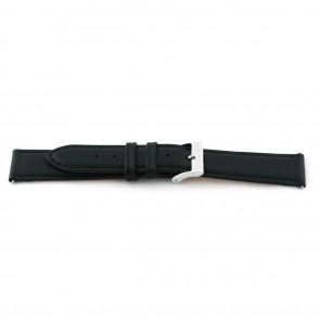 Cinturino dell'orologio F012 XL Pelle Nero 18mm + cuciture di default
