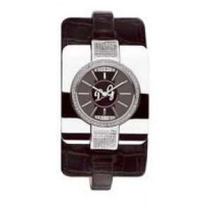 Cinturino per orologio Dolce & Gabbana DW0161 Pelle di coccodrillo Nero 10mm