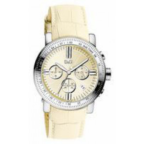 Cinturino per orologio Dolce & Gabbana DW0678 Pelle Beige 22mm