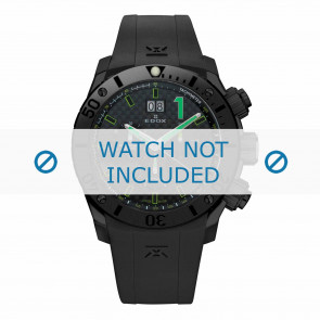Cinturino per orologio Edox 10020-37N-NV Silicone Nero 22mm