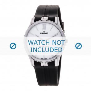 Edox cinturino dell'orologio 27033-3-BIN Silicone Nero