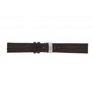 Elysee cinturino dell'orologio Ely.02 Pelle Marrone scuro 20mm + cuciture marrone