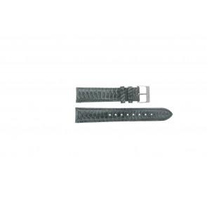 Esprit cinturino dell'orologio ES103062 / 819660 Pelle Grigio 18mm + cuciture grigio