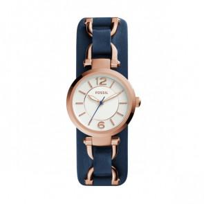 Cinturino per orologio Fossil ES3857 Pelle Blu