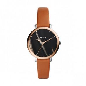 Cinturino per orologio Fossil ES4378 Pelle Cognac 14mm