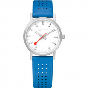 Cinturino per orologio Mondaine A658.30323.16SBD / FE3116.40Q.2 Pelle Blu 16mm