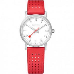 Cinturino per orologio Mondaine A658.30323.16SBD / FE3116.30Q.2 Pelle Rosso 16mm