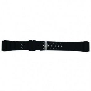Cinturino dell'orologio SL100 Silicone Nero 24mm