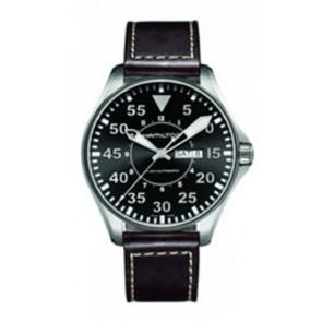 Cinturino per orologio Hamilton H64715535 Pelle Marrone scuro 22mm
