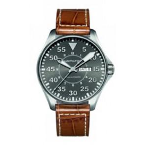 Cinturino per orologio Hamilton H64715885 Pelle Cognac 22mm