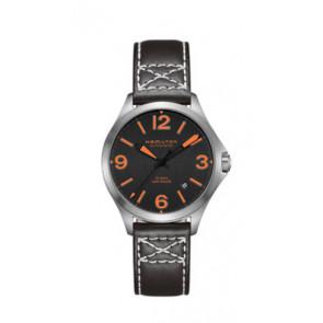 Cinturino per orologio Hamilton H76235731 Pelle Nero 19mm