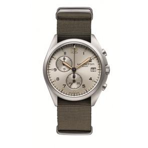 Cinturino per orologio Hamilton H76552955 Tessuto Taupe 22mm