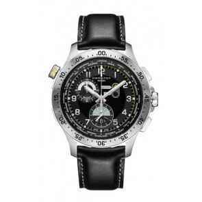 Cinturino per orologio Hamilton H76714735 Pelle Nero 22mm