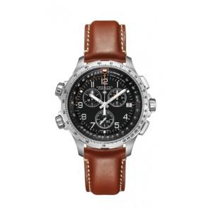 Cinturino per orologio Hamilton H77912535 Pelle Marrone 22mm