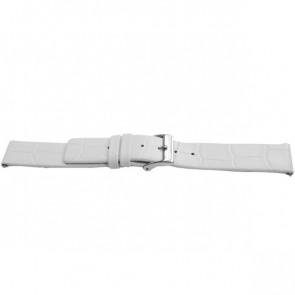 Cinturino per orologio Universale F520 Pelle Bianco 18mm
