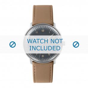 Junghans cinturino dell'orologio 027/3401.00 Pelle Beige 20mm + cuciture di default