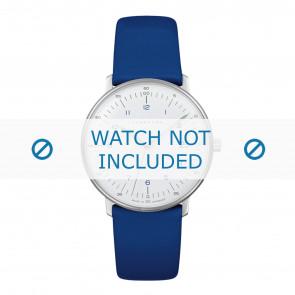 Cinturino per orologio Junghans 047/4540.00 Pelle Blu 18mm