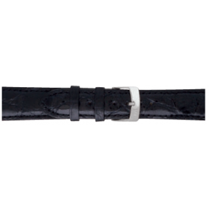 Morellato cinturino dell'orologio Amadeus XL G.Croc Gl K0518052019CR22 / PMK019AMADEU22 Pelle di coccodrillo Nero 22mm + cuciture di default
