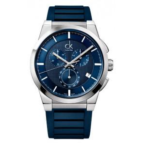 Cinturino per orologio Calvin Klein K2S371 Gomma Blu