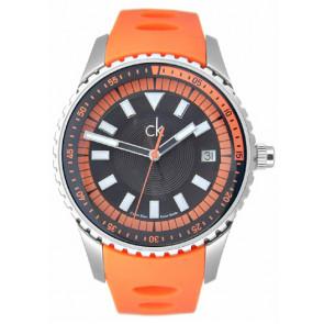 Cinturino per orologio Calvin Klein K32112 Gomma Arancione