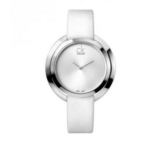 Cinturino per orologio Calvin Klein K3U231 Pelle Bianco