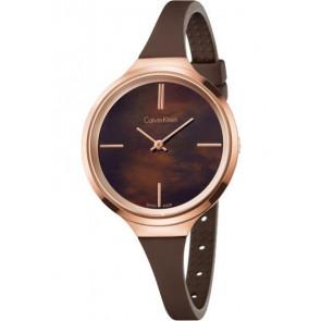 Cinturino per orologio Calvin Klein K4U236 Gomma Marrone