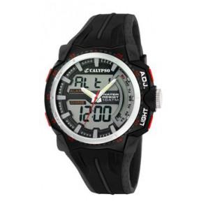 Cinturino per orologio Calypso K5539-1 Gomma Nero