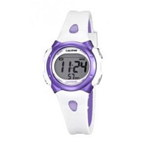Cinturino per orologio Calypso K5609-2 Gomma Bianco