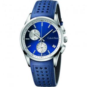 Cinturino per orologio Calvin Klein K600.000.258 / K5A371VN Pelle Blu