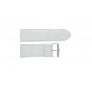 Cinturino per orologio Universale 305.09 Pelle Bianco 30mm