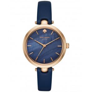 Cinturino per orologio Kate Spade New York KSW1157 Pelle Blu 6mm