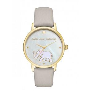 Kate Spade New York cinturino dell'orologio KSW1208 / METRO Pelle Grigio