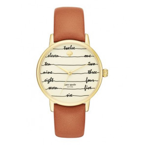 Cinturino per orologio Kate Spade New York KSW1237 Pelle Marrone 16mm