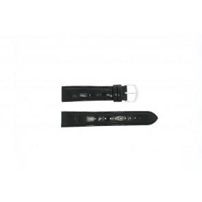 Lorus cinturino dell'orologio 19MM Pelle Nero 19mm + cuciture nero