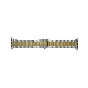 Apple (replacement model) cinturino orologio LS-AB-106 (Bi-color) Acciaio Oro (Placcato) 42mm