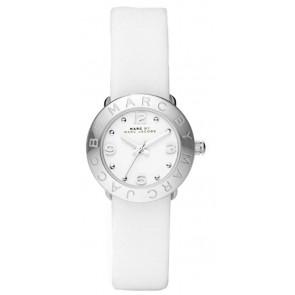 Cinturino per orologio Marc by Marc Jacobs MBM8553 Pelle Bianco 15mm