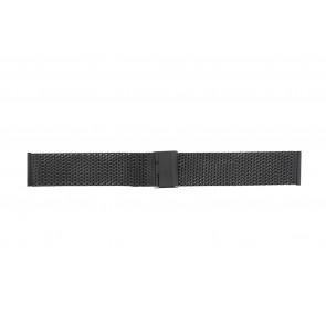 Cinturino per orologio Universale 18.03-ST-ZW Milanese Nero 18mm