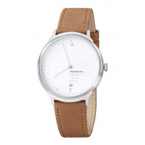 Cinturino per orologio Mondaine MH1.L2210.LG MB20121 / MB20121 Pelle Marrone chiaro 18mm