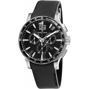 Cinturino per orologio Maurice Lacroix MI1098 / AQ60872 / ML640-000020 Silicone Nero 18mm