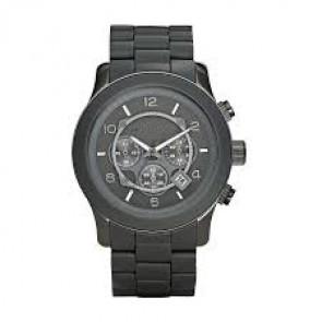 Cinturino per orologio Michael Kors MK8148 Acciaio/Silicone Grigio antracite 24mm
