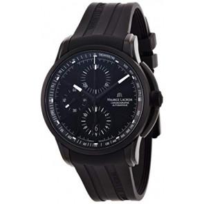 Cinturino per orologio Maurice Lacroix PT6188 / ML640-000027 Gomma Nero