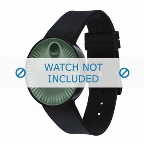 Movado cinturino dell'orologio 3680041 Silicone Nero 22mm