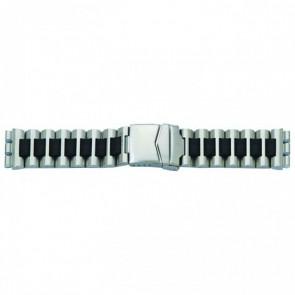 Cinturino orologio in acciaio per Swatch, nero, 19mm 1075