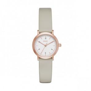Cinturino per orologio DKNY NY2514 Pelle Taupe 14mm