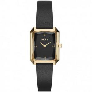 Cinturino per orologio DKNY NY2644 Pelle Nero 12mm