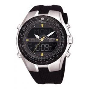Cinturino per orologio Pulsar NX14-X00101 Silicone Nero