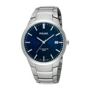 Cinturino per orologio Pulsar VJ42 X021 / PS9009X1 / PS9011X1 / PS9013X1 / PH280X Titanio Grigio
