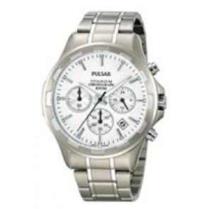 Cinturino per orologio Pulsar VD53-X064 / PT3211X1 Titanio Grigio 20mm